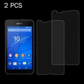 2 PCS for Sony Xperia E4G 0.26mm 9H Surface Hardness 2.5D Explosion-proof Tempered Glass Screen Film