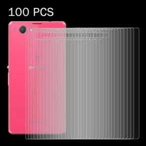100 PCS for Sony Xperia Z1 Compact / Z1 Mini 0.26mm 9H Surface Hardness 2.5D Explosion-proof Back Tempered Glass Film