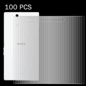 100 PCS for Sony Xperia Z Ultra / XL39h 0.26mm 9H Surface Hardness 2.5D Explosion-proof Back Tempered Glass Film