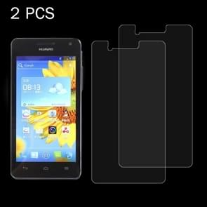 2 PCS for  Huawei U9508 0.26mm 9H Surface Hardness 2.5D Explosion-proof Tempered Glass Screen Film