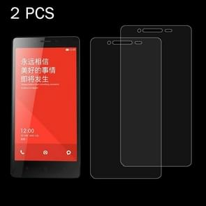 2 PCS Xiaomi Redmi Note 0.26mm 9H Surface Hardness 2.5D Explosion-proof Tempered Glass Screen Film