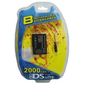 2000MAH Oplaadbare batterij voor NDSL(zwart)
