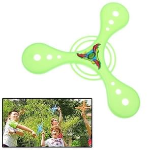 Classic Triangle Style Flying Boomerang Outdoor Interesting Flying Toy (Green)