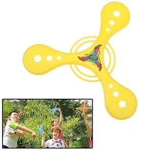 Classic Triangle Style Flying Boomerang Outdoor Interesting Flying Toy (Yellow)