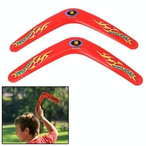 Classic V Style Flying Boomerang Outdoor Interesting Flying Toy (Red)