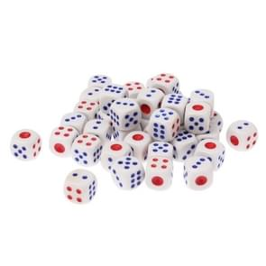 40 PCS Gaming Dice Set for Leisure Time Playing, Size: 11mm x 11mm x 11mm(White)