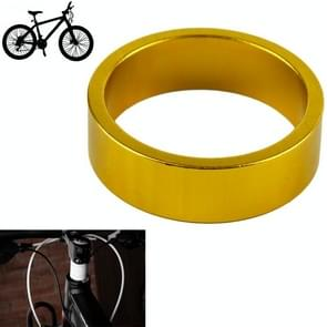10mm Aluminum Bike Bicycle Toothed Headset Stem Spacer, Golden (D01)