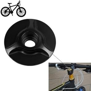 Bicycle CNC Aluminum Bike Headset Cap(Black)
