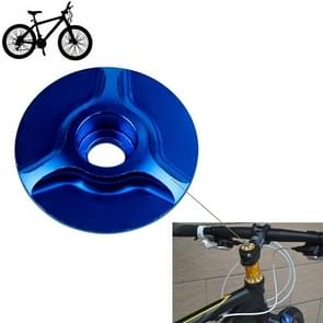 Bicycle CNC Aluminum Bike Headset Cap(Blue)