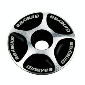 Gineyea Bicycle CNC Aluminum Bike Headset Cap(Black)