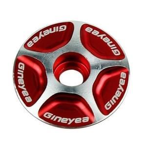 Gineyea Bicycle CNC Aluminum Bike Headset Cap(Red)