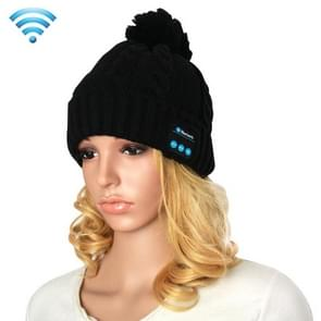 My-Call Bluetooth Headset Beanie Knitted Warm Winter Hat for iPhone 6 & 6s / iPhone 5 & 5S / iPhone 4 & 4S and Other Bluetooth Devices(Black)