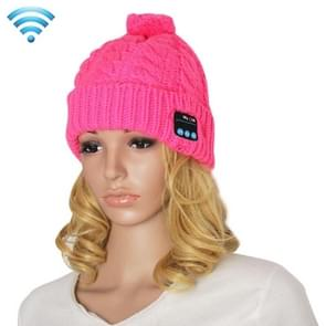 My-Call Bluetooth Headset Beanie Knitted Warm Winter Hat for iPhone 6 & 6s / iPhone 5 & 5S / iPhone 4 & 4S and Other Bluetooth Devices(Magenta)