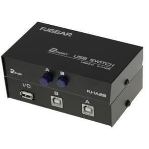 2 Port USB Data Switch(Black)