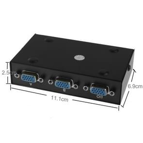2 Port VGA Switch Box, 2 In 1 Out For LCD PC TV Monitor - HD15 (FJ-15-2C)(Black)