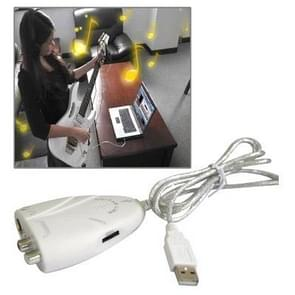 USB Guitar Link Cable ,High Quality ,Audio Out(White)