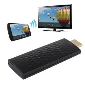 Wireless HDMI Miracast DLNA Display Dongle, CPU: ARM Cortex A9 Single Core 1.2GHz, Support WIFI + HDMI(Black)