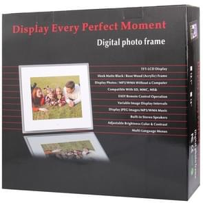 13.3 inch TFT LCD Display Multi-media Acrylic Material Digital Photo Frame with Music & Movie Player / Remote Control Function, Support USB / SD Card Input, Built in Stereo Speaker(White)
