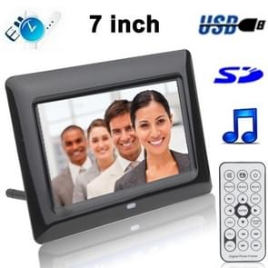 7 inch Digital Picture Frame with Remote Control Support SD / MMC / MS Card and USB (7005B)(Black)