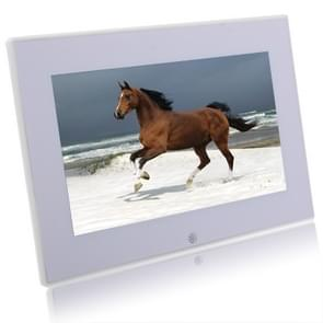 7012W White, 7 inch Digital Picture Frame with Holder & Remote Control Support SD / MMC / MS Card and USB(White)