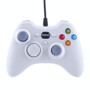 USB 2.0 Dual Shock Vibration Gamepad Joystick Hand Rumble Wired Game Controller for PC, Plug and Play