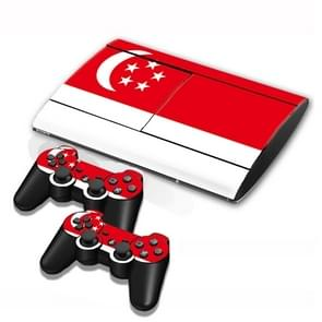 Singapore Flag Pattern Decal Stickers for PS3 Game Console