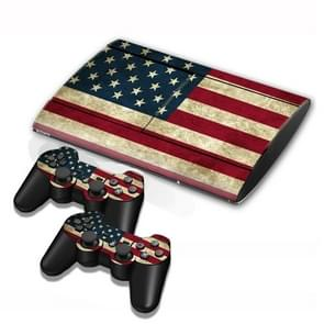 US Flag Pattern Decal Stickers for PS3 Game Console