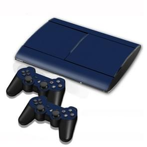 Carbon Fiber Texture Decal Stickers for PS3 Game Console(Dark Blue)