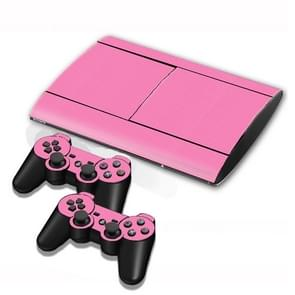 Carbon Fiber Texture Decal Stickers for PS3 Game Console(Pink)