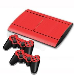 Carbon Fiber Texture Decal Stickers for PS3 Game Console(Red)