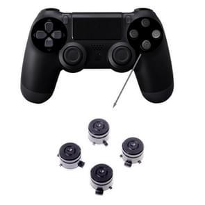 Aluminum Metal Buttons for PS4 9mm Mod Kits Bullet(Black)