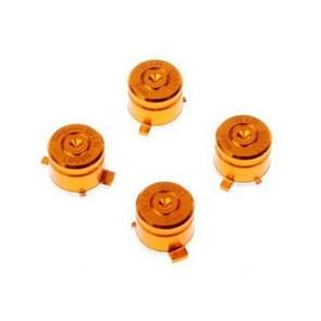 Aluminum Metal Buttons for PS4 9mm Mod Kits Bullet(Gold)