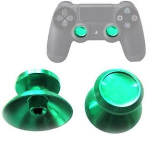 2 PCS Aluminium Humbsticks Thumb Joysticks 3D Cap Shell Mushroom Caps for PS4(Green)