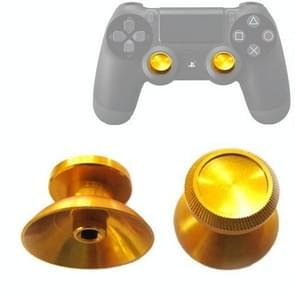 2 PCS Aluminium Humbsticks Thumb Joysticks 3D Cap Shell Mushroom Caps for PS4(Gold)