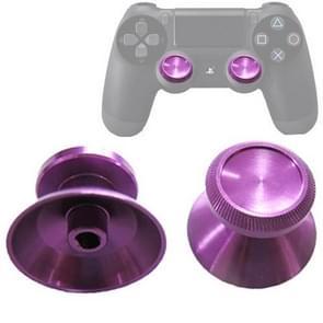 2 PCS Aluminium Humbsticks Thumb Joysticks 3D Cap Shell Mushroom Caps for PS4(Purple)