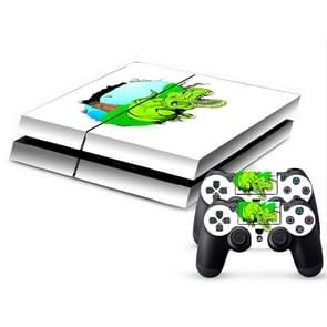 3D Dinosaur Pattern Protective Skin Sticker Cover Skin Sticker for PS4 Game Console