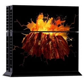 3D Volcano Pattern Protective Skin Sticker Cover Skin Sticker for PS4 Game Console
