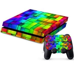 Tetris Pattern Protective Skin Sticker Cover Skin Sticker for PS4 Game Console