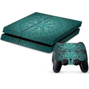 Ethnic Flower Pattern Protective Skin Sticker Cover Skin Sticker for PS4 Game Console