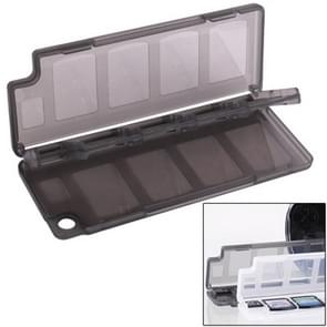 10 in 1 High Quality HEPD Material Game Card Box for Sony PS Vita (Dark Grey)