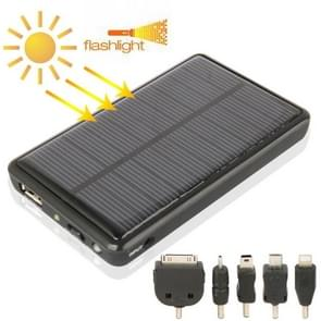 2600mAh Mobile Phone Emergency Power Station with Solar Charger & LED Flash Light for iPhone 5 / iPhone 4 / Samsung i9500 / Nokia Lumia 1020 / 920 (Black)