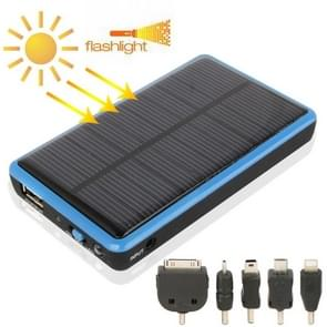 2600mAh Mobile Phone Emergency Power Station with Solar Charger & LED Flash Light for iPhone 5 / iPhone 4 / Samsung i9500 / Nokia Lumia 1020 / 920 (Blue)