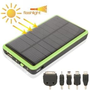 2600mAh Mobile Phone Emergency Power Station with Solar Charger & LED Flash Light for iPhone 5 / iPhone 4 / Samsung i9500 / Nokia Lumia 1020 / 920 (Green)