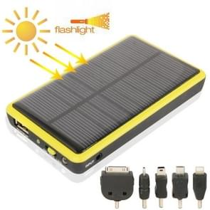 2600mAh Mobile Phone Emergency Power Station with Solar Charger & LED Flash Light for iPhone 5 / iPhone 4 / Samsung i9500 / Nokia Lumia 1020 / 920 (Yellow)