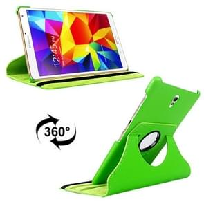 Litchi Texture 360 Degree Rotation Leather Case with 2 Gears Holder & Sleep / Wake-up Function for Samsung Galaxy Tab S 8.4 / T700 / T705(Green)