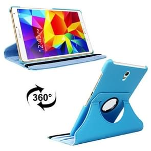 Litchi Texture 360 Degree Rotation Leather Case with 2 Gears Holder & Sleep / Wake-up Function for Samsung Galaxy Tab S 8.4 / T700 / T705(Blue)