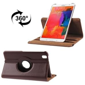 360 Degree Rotatable Litchi Texture Leather Case with 2-angle Viewing Holder for Samsung Galaxy Tab Pro 8.4 / T320(Brown)