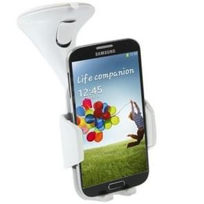 Suction Cup Car Stretch Holder for Samsung Galaxy S IV / i9500 / Galaxy S III / i9300 / N7100 / iPhone / Z10 / HTC / Nokia / Other Mobile Phone, Width: 53-83mm (White)