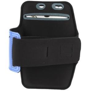Universal PU Sports Armband Case with Earphone Hole for Samsung Galaxy Note 4 / N910 / Note III / N9000 / II / N7100 / i9220 / N7000 /  N7005 / Sony Z2 / Z1 (Blue)