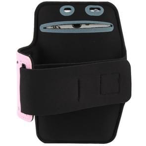 Universal PU Sports Armband Case with Earphone Hole for Samsung Galaxy Note 4 / N910 / Note III / N9000 / II / N7100 / i9220 / N7000 /  N7005 / Sony Z2 / Z1(Pink)